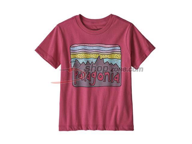 13d1b06859e Patagonia - Baby Fitz Roy Skies Organic T-Shirt - Reef Pink
