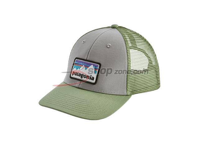Patagonia - Shop Sticker Patch Lopro Trucker Hat - Drifter Grey W Matcha  Green  2f4b8e75792