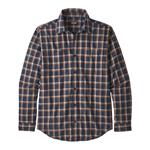 M'S L/S Pima Cotton Shirt - Ridge Line: Neo Navy